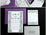Purple Silver and Black Wedding Invitations Purple and Silver Wedding Invitations Image Of Black and