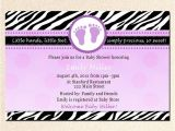 Purple Zebra Print Baby Shower Invitations Baby Feet Zebra Baby Shower Invitation Purple by Pinkthecat