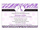 Purple Zebra Print Baby Shower Invitations Giraffe Baby Shower Invitation Card Purple Zebra by Pinkthecat