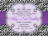 Purple Zebra Print Baby Shower Invitations Purple Zebra Invitation Birthday Baby Shower You Print