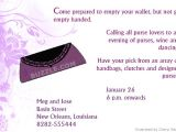 Purse Party Invitations attractive and Trendy Invitations to Bash Up Your Purse Party