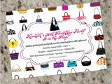 Purse Party Invitations Handbags Galore Purse themed Invitations Any Occasion