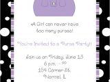 Purse Party Invitations Purple Handbag Purse Party Invitations