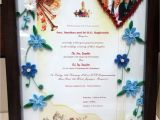 Quilled Wedding Invitation Keepsake Adhiraacreations Quilled Keepsake Invitation