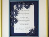 Quilled Wedding Invitation Keepsake Hand Crafted Wedding Invitation Quilled Keepsake Framed