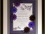 Quilled Wedding Invitation Keepsake Quilled Wedding Invitation Keepsake Custom Wood Frame