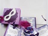 Quinceanera Box Invitations Explosion Box Ideas Masquerade Invitations Exploding Box