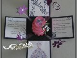 Quinceanera Box Invitations Jinky 39 S Crafts Designs Valentine Exploding Box and Card