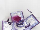 Quinceanera Box Invitations Masquerade Invitations Exploding Box Quinceaneras