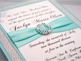 Quinceanera Invitation Kits Aqua Wedding Quinceanera Sweet 16 Invitation by