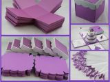 Quinceanera Invitation Kits Exploding Box with 3 Tier Cake Invitation Diy Kit This is
