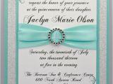 Quinceanera Invitation Verses Aqua Invitations and Bling On Pinterest