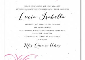 Quinceanera Invitation Wording Samples Invitation Wording Quinceanera Spanish Choice Image