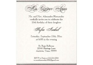 Quinceanera Invitation Wording Samples Mis Quince Invitations