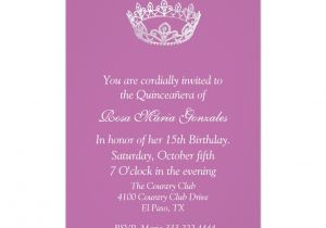 Quinceanera Invitation Wording Samples Quinceanera Program Wording Examples Just B Cause