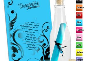 Quinceanera Invitations In A Bottle Bottle Quinceanera Invitations