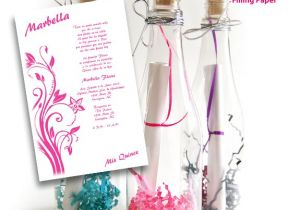 Quinceanera Invitations In A Bottle Bottle Sweet 15 Invitations Kit