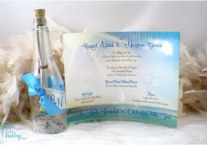 Quinceanera Invitations In A Bottle Message In A Bottle Beach Wedding or Sweet Sixteen