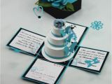 Quinceanera Invitations In A Box Jinky 39 S Crafts Designs Turquoise Blue and Black