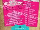 Quinceanera Invitations Padrinos List Beautiful Pink Quinceanera Invitations with Padrinos Back