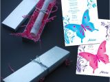 Quinceanera Invitations Scrolls butterfly Scroll Invitations Inside Silver Box