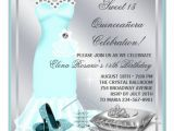 Quinceanera Invitations Templates for Free Elegant Sivler and Teal Blue Quinceanera 5 25×5 25 Square