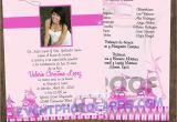 Quinceanera Invitations Templates In Spanish Spanish Quinceanera Invitation Templates