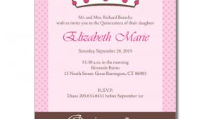 Quinceanera Invitations Wording In English Quince Invitation In English orderecigsjuice Info