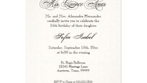 Quinceanera Invitations Wording Samples In English Quince Anos Invitations Verses In Spainsh