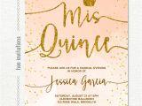 Quinceanera Poems for Invitations Quinceanera Invitation Coral Peach Watercolor Gold