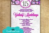 Quinceanera Quotes for Invitations In Spanish Custom Quinceanera Invitations Online Purple Bling