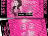 Quinceanera Ticket Invitations All Access Vip Pass Quinceanera Invitations