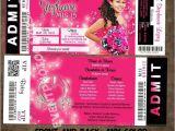 Quinceanera Ticket Invitations Concert Ticket Quinceanera Concert Ticket Invitations