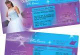Quinceanera Ticket Invitations Free Printable Quinceanera Invitation Ticket