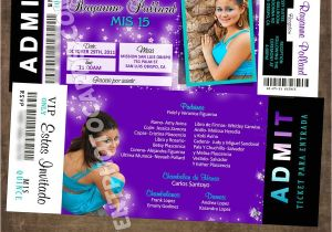 Quinceanera Ticket Invitations Quinceanera Ticket Invitations 2016 New Collections Vip Pass