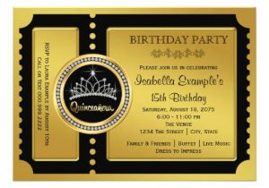 Quinceanera Ticket Invitations Quinceanera Ticket Invitations 35 Quinceanera Ticket