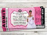 Quinceanera Ticket Invitations Royal Princess Quinceanera Ticket Invitation Vip Ticket to