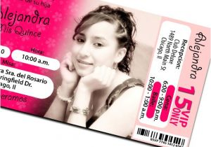 Quinceanera Ticket Invitations Ticket Quinceanera Invitations