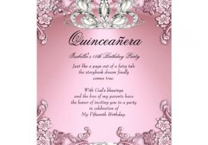 Quinceaneras Invitations Cards Quinceanera Pink 15th Birthday Party Card Zazzle Com