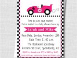 Race Car Baby Shower Invitations Girl Pink Race Car Baby Shower Invitation Girl Baby Shower