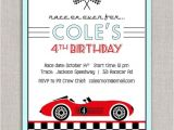 Race Car themed Birthday Invitations Best S Of Racing Birthday Party Invitation Cards