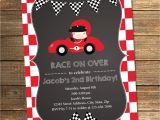 Race Car themed Birthday Invitations Race Car Birthday Invitation Boy Birthday Second