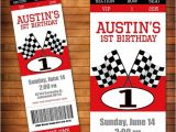 Race Car themed Birthday Invitations Race Car Birthday Invitation Racing Party Pit Pass