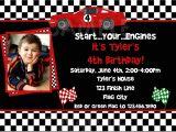 Race Car themed Birthday Invitations Race Car Birthday Party Invitations