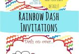 Rainbow Dash Party Invitations Free Printable Rainbow Dash Party Invitations Our