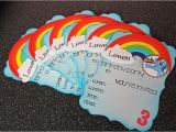 Rainbow Dash Party Invitations Hand Made by Rianna Mlp Party Rainbow Dash Party Invites