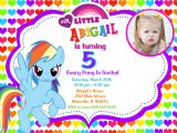 Rainbow Dash Party Invitations My Little Pony Birthday Party Invitations Free Printable