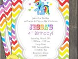 Rainbow Dash Party Invitations My Little Pony Invitation Party Rainbow Dash Girl by