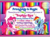 Rainbow Dash Party Invitations Rainbow Dash and Pinkie Pie My Little Pony Invitations Di