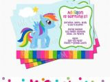 Rainbow Dash Party Invitations Rainbow Dash Party Invitation Inspired My Little by